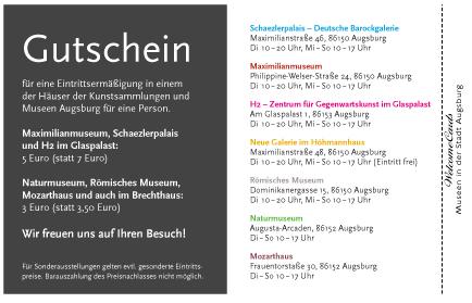 WelcomeCards Augsburg Anzeigen-Beispiele Gutschein Coupon Angebot